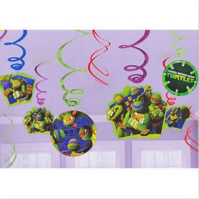 Teenage Mutant Ninja Turtles Dangling Swirl Decorations 12 Piece Set - 671194