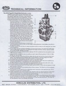 1974-1982-Bing-Type-54-2-amp-84-carburetor-parts-list-and-tuning-7-pages-of-COPIES