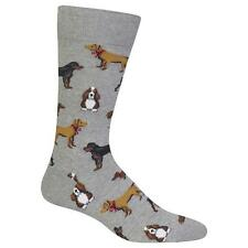 Multi Dogs Dress Slack Socks Sweatshirt Grey BG NWT Men's Sock Size 10-13 HOTSOX