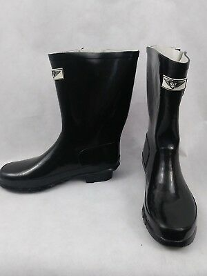Pre Owned Worn Once New Tory Klein Rain Boot Black Size 9 Hunter Birch