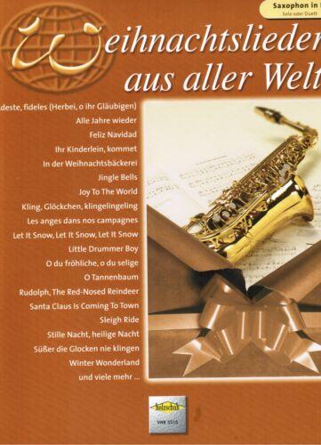 leichte Mittelst. Weihnachtslieder aus aller Welt  leicht Altsaxophon Noten