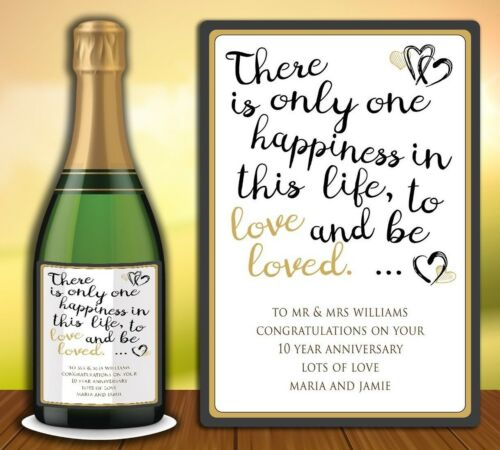 PERSONALISED CHAMPAGNE WINE PROSECCO BOTTLE LABEL BIRTHDAY ANY OCCASION LOVE