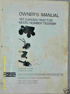 Details about T6328BR-Sears/Roper 16T Tractor- Manual & Parts Lists on CD