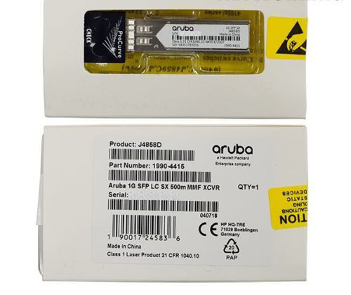 New Sealed HPE Aruba J4858D 1000BASE-SX SFP Transceiver Module