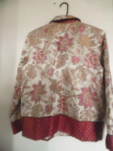 Blazer Designer Womans 3 Jacket August Max Silk Taglia wIEvHcq