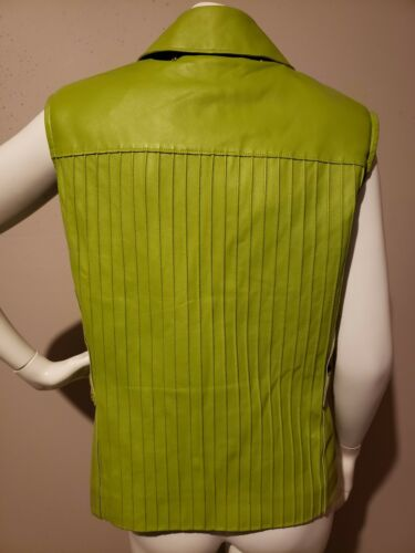 Vest St Pleated S John Marie Rare Leather By Gray 100 Women Size Green Sport w8wqfa