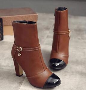 Bottes Noir Cuir 9 Pour Talon Marron Chaussures Confortable 9408 Comme Femmes rq4OPxrY