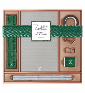 Zoella Stationery Bento Box Containing Pen Pencil Rubber Ruler Notepad /& More