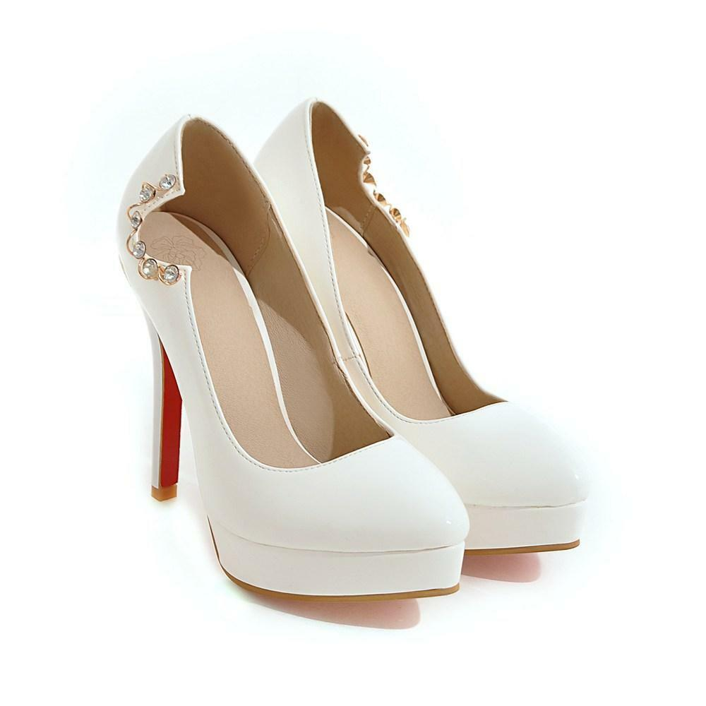 Schick Damen Lackleder High Heels Platform Pumps Party 48 OL Abendschuhe 46 47 48 Party 03509d