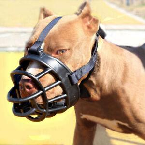 No-Bite-Bulldog-PitBull-Mouth-Covers-Strong-Muzzle-Basket-Big-Dog-Pet-QEC