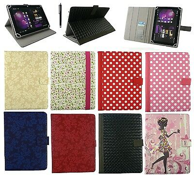 """Universal Multi Angle Wallet Case Cover Folio for 9.7"""" and 10 inch Tablet"""