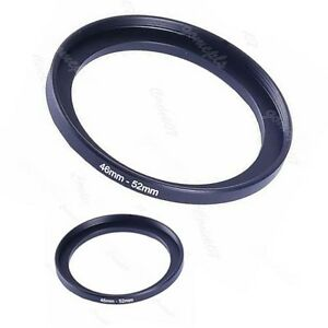 Metal-46mm-52mm-Step-Up-Lens-Filter-Ring-46-52-mm-46-to-52-Stepping-Adapter-NEW