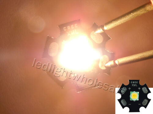 5 x Cree Xlamp XM-L XML T6 LED Warm White Light Mounted on Aluminium Star PCB