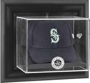 Mariners Black Framed Wall- Logo Cap Display Case - Fanatics