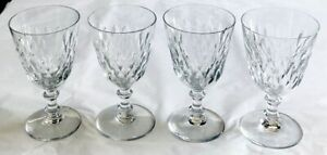 Set-of-4-BACCARAT-Crystal-ARMAGNAC-Red-Claret-Wine-Glasses-EXCELLENT-Condition
