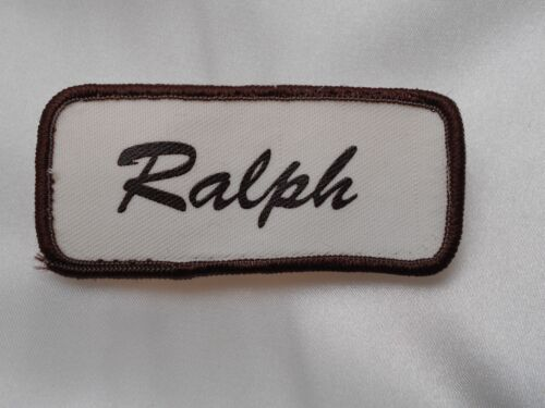 RALPH   USED SILK SCREEN VINTAGE SEW ON NAME PATCH TAGS ASSORTED COLORS