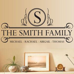 Personalizado-a-medida-Familia-Nombre-texto-VINILO-DECORATIVO-ADHESIVO