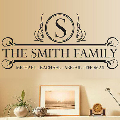 Personalised Custom Family Name Wall Art Quote Decal Personalized Vinyl Sticker Ebay