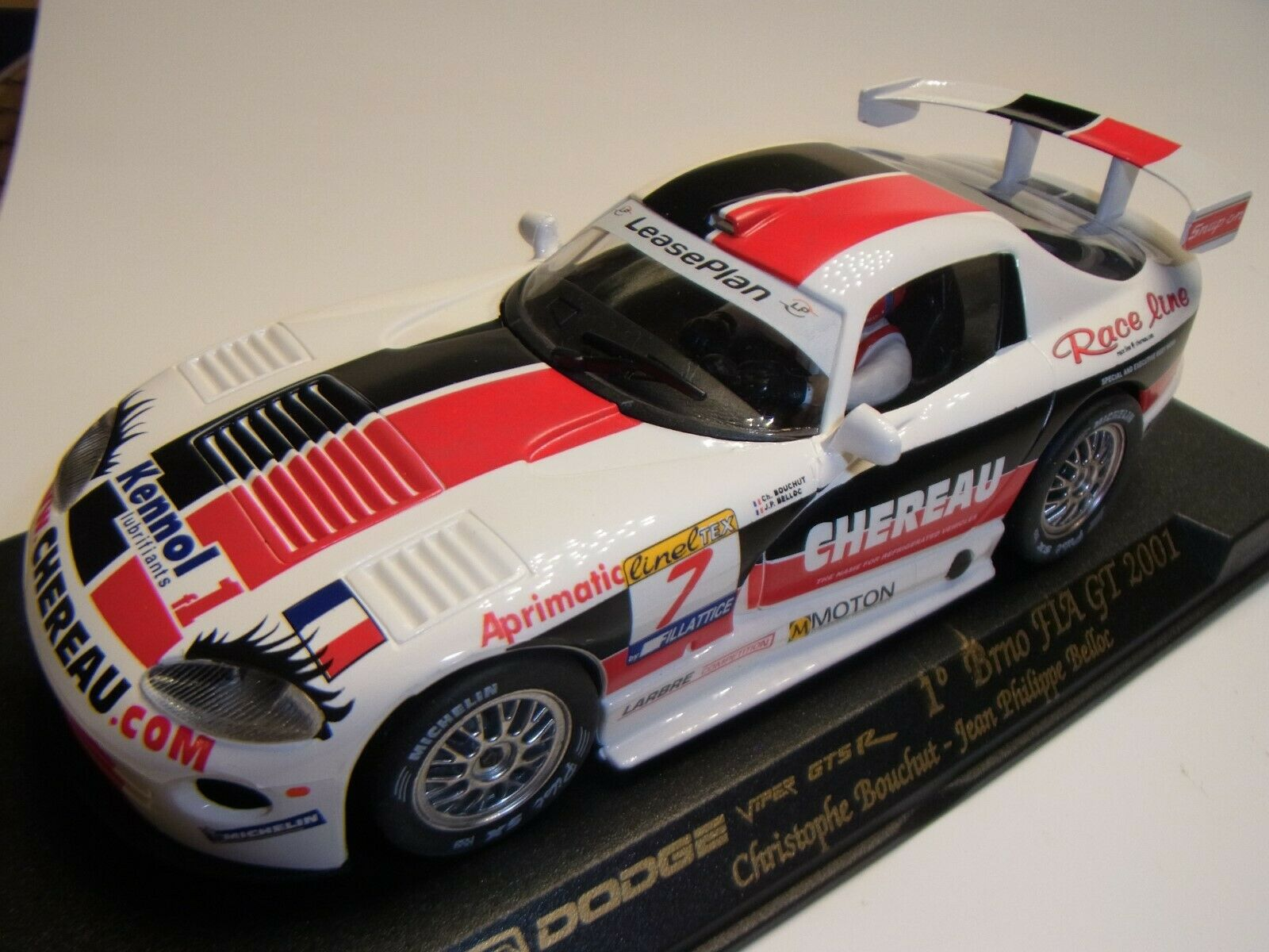 Fly Dodge Viper GTS-R 1° Brno 2001  A89 Autorennbahn 1 32 SMassecar