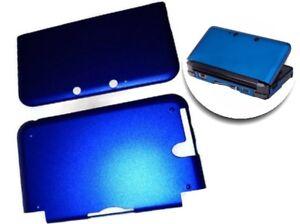 Funda-Protectora-para-Nintendo-3ds-XL-Ll-Aluminio-Hardcase-Cover-Metalico-Azul