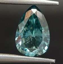 1.05 Carat Fancy Blue Color Diamond Pear Shape Beautiful Gorgeous Real Image