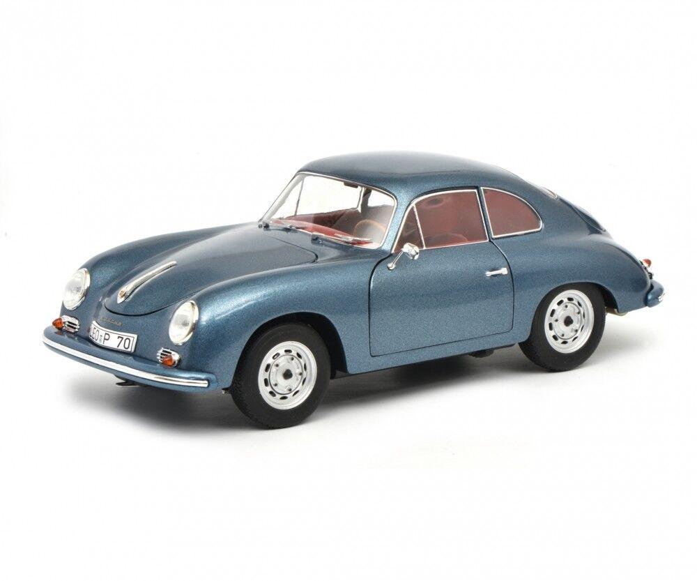 Schuco Porsche 356 a carrera coupé-blu-metálico - 1 18