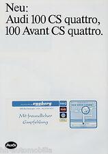 Prospekt Audi 100 CS quattro Lim Avant 1984 Autoprospekt Auto PKWs brochure