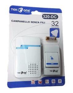 Campanello wireless senza fili 32 melodie tekone 320 dc - Campanello senza fili da esterno ...