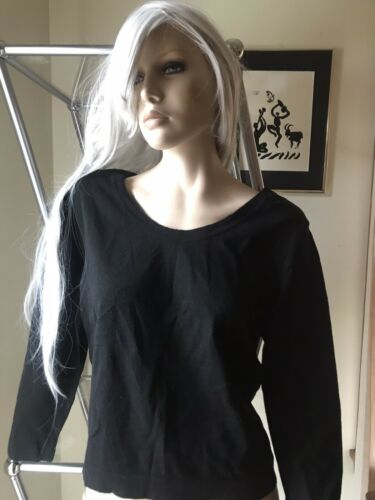 Black Italian wool sweater vintage 50's Boat neck