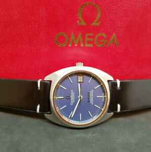 USED-Vintage-1973-Omega-Constellation-Blue-Dial-Cal-1011-automatische-Mann-Armbanduhr