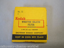 KODAK WRATTEN GELATIN GEL FILTER ( No.15 G) for Bolex filter slot frame VINTAGE