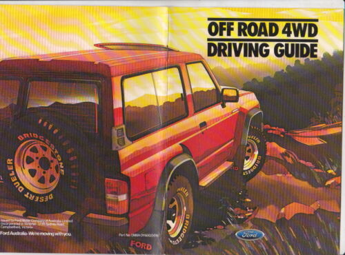 1988 FORD MAVERICK OFF ROAD 4WD DRIVING GUIDE Australian Book NISSAN Y60 PATROL