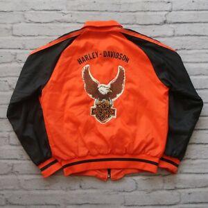 Vintage 80s Harley Davidson Eagle Bomber Jacket Size M ...