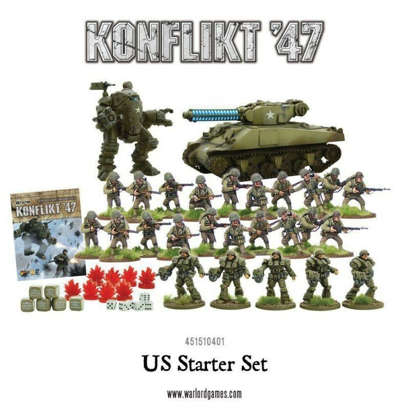 Conflicto 47 US ARMY Juego de inicio Warlord Games WW2 1947 Alemania