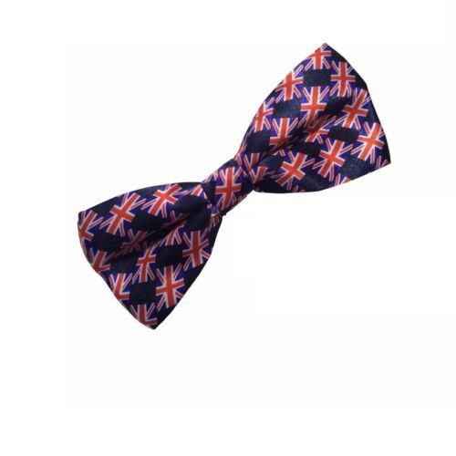 Men/'s Union Jack Grande-Bretagne Patriotique Nœud Papillon Drapeau Fantaisie Noeud Papillon Cravate