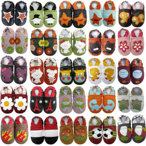 carozoo FR CA1 Chaussures en cuir pour bébé jusqu/'à 6years semelle souple