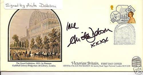 EASTENDERS star personally signed FDC - ANITA DOBSON