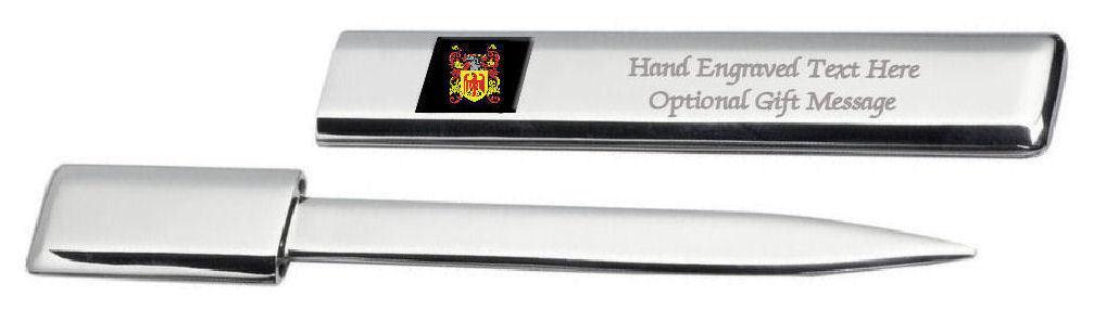 Lennard Famille  Blason Heraldic Engraved Ouvre-Lettre