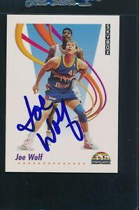 1991/92 Skybox #76 Joe Wolf Nuggets Signed Auto *4015