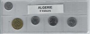 Algérie Série De 5 Pièces De Monnaie