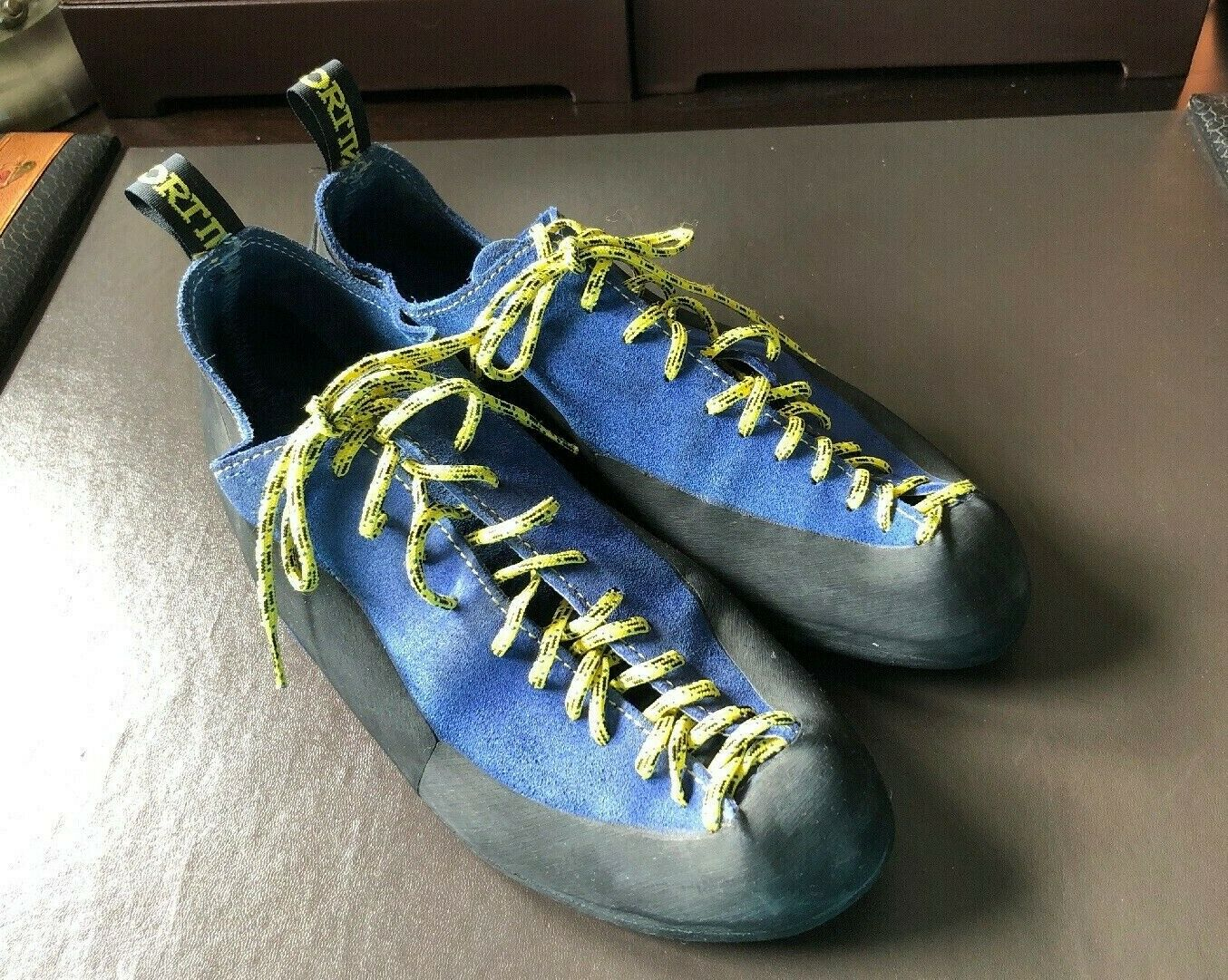 La Sportiva bluee Suede Leather Climbing shoes Men's Size  US 10