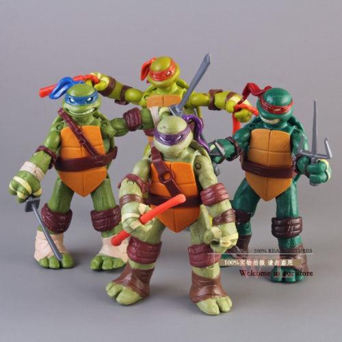 4Pcs/Set Teenage Mutant Ninja Turtles Action Figures Toy TMNT Kid Birthday Gift