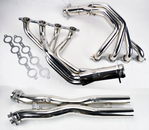 Chevy Corvette 2005-2013 C6 LS2 LS3 Stainless Exhaust Headers Manifolds /& X Pipe