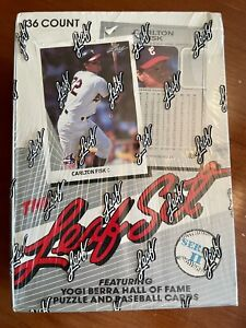 1990 LEAF Baseball SERIES 2 Box Unopened Factory Sealed! Potential Frank Thomas