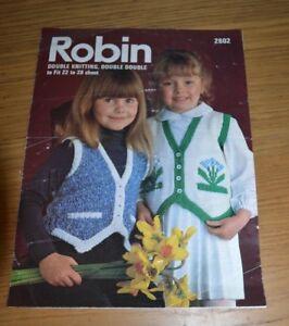 ROBIN  DK DOUBLE DOUBLE  VINTAGE CHILDRENS WAISTCOAT  KNITTING PATTERN  2802 - Machynlleth, Powys, United Kingdom - ROBIN  DK DOUBLE DOUBLE  VINTAGE CHILDRENS WAISTCOAT  KNITTING PATTERN  2802 - Machynlleth, Powys, United Kingdom