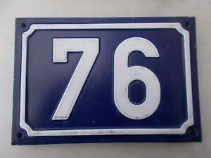 Ancien Numero 76 De Maison Plaque Alu De Rue 15cmx10cm