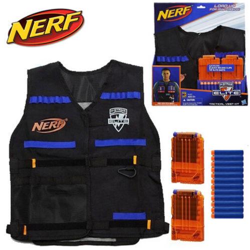Nuevo Chaleco De Nerf Elite Tactical Kit de 2 Clips de reCochega rápida 12 Elite Dardos