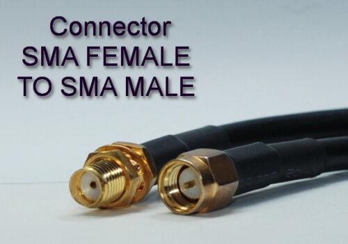 US MADE  50 FT  SMA plug  TO  SMA   jack RG-174 coax cable     50 ohm