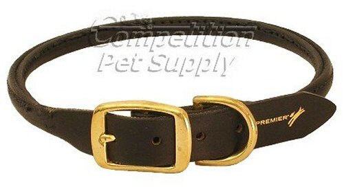 Lexington ROLLED LEATHER COLLAR by Premier Black NWT 7 Sizes