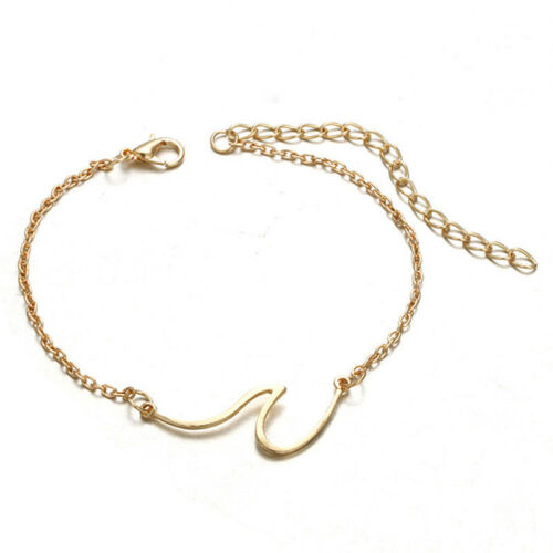 Simple Wave Chain Anklet Ankle Bracelet Barefoot Sandal Beach Foot Jewelry Nq
